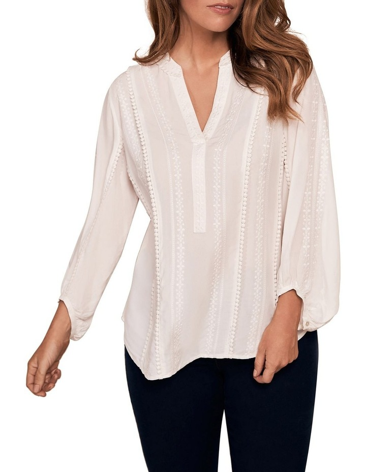 Embroidered Peasant Top image 1