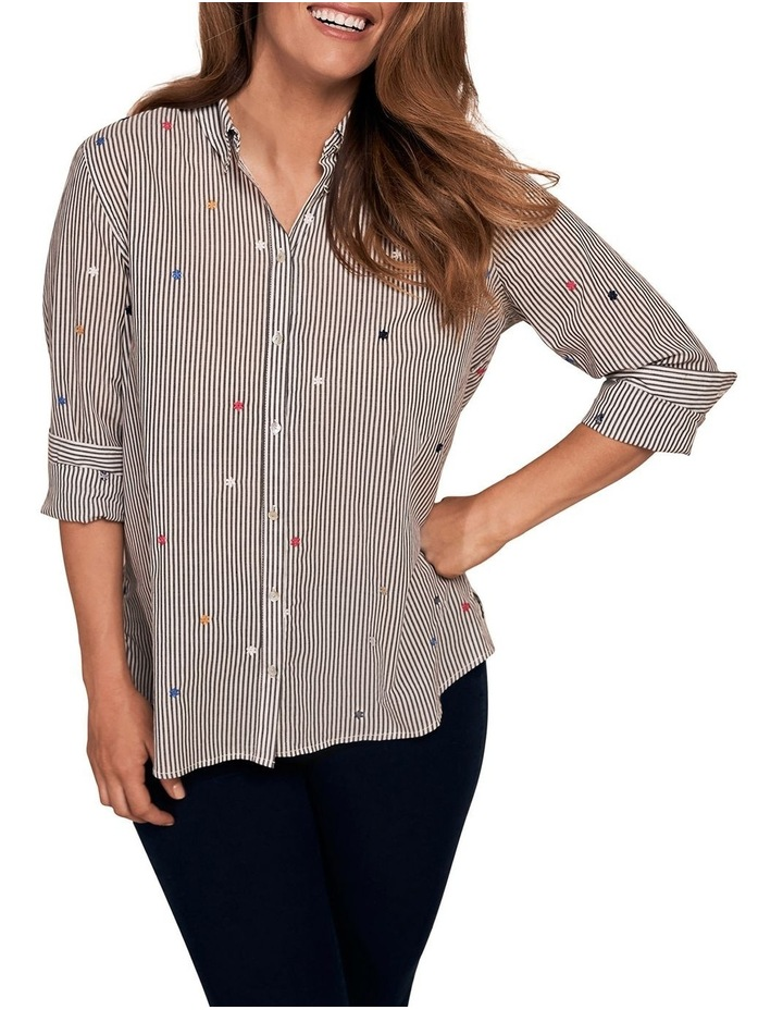 Embroidered Stripe Shirt image 1