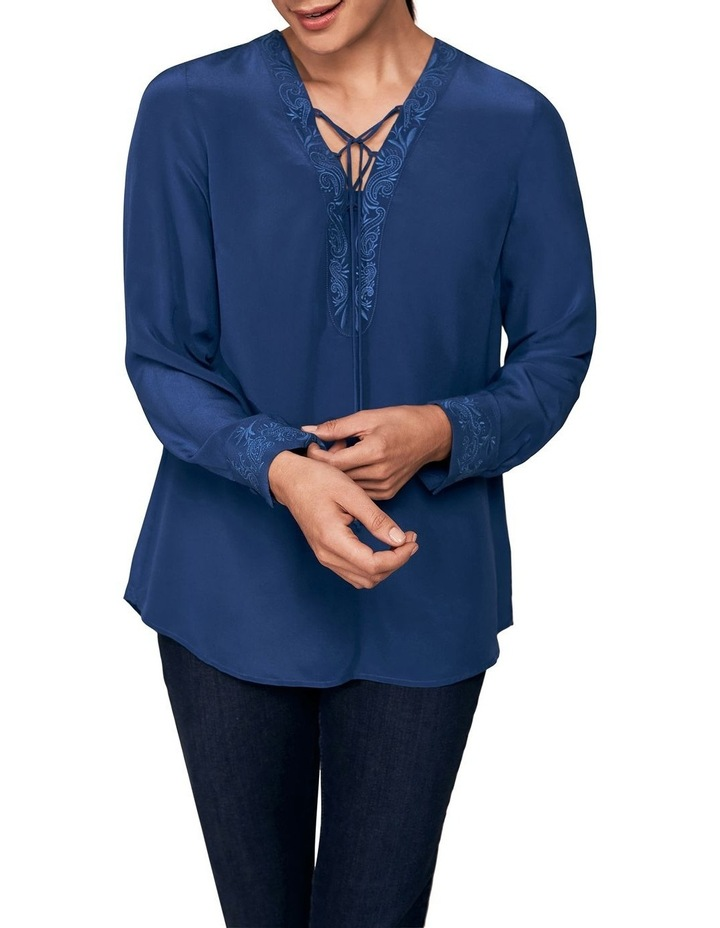 Embroidered Silk Blouse image 1