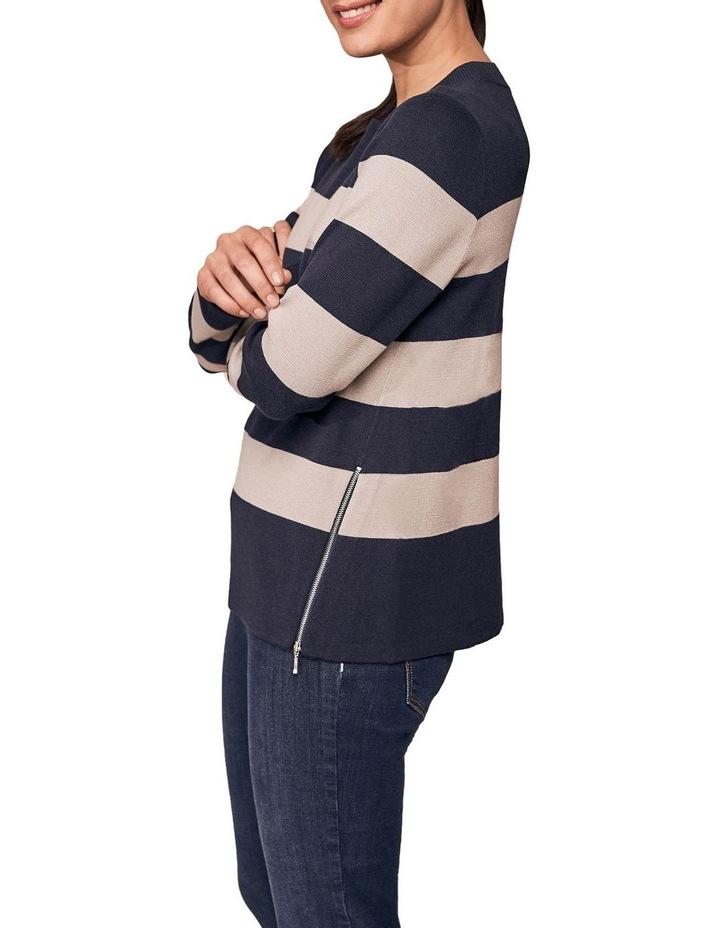 Zip Detail Stripe Knit image 2