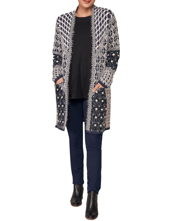 Jacquard Feather Cardigan image 3