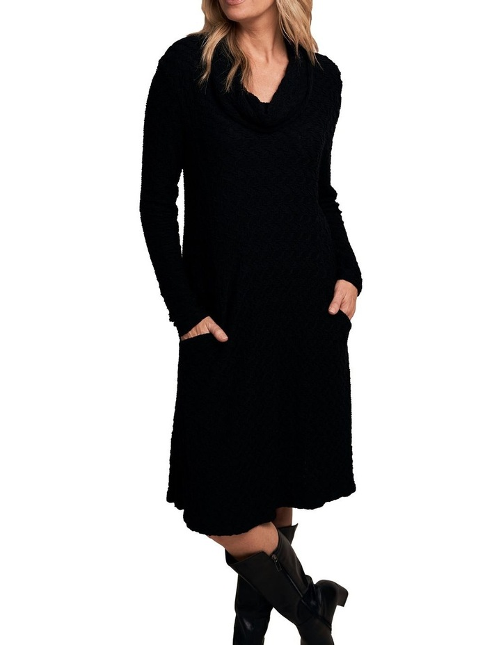 Cowl Neck Textured Dress image 1