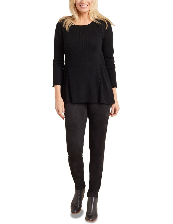 Faux Suede Panelled Legging image 1