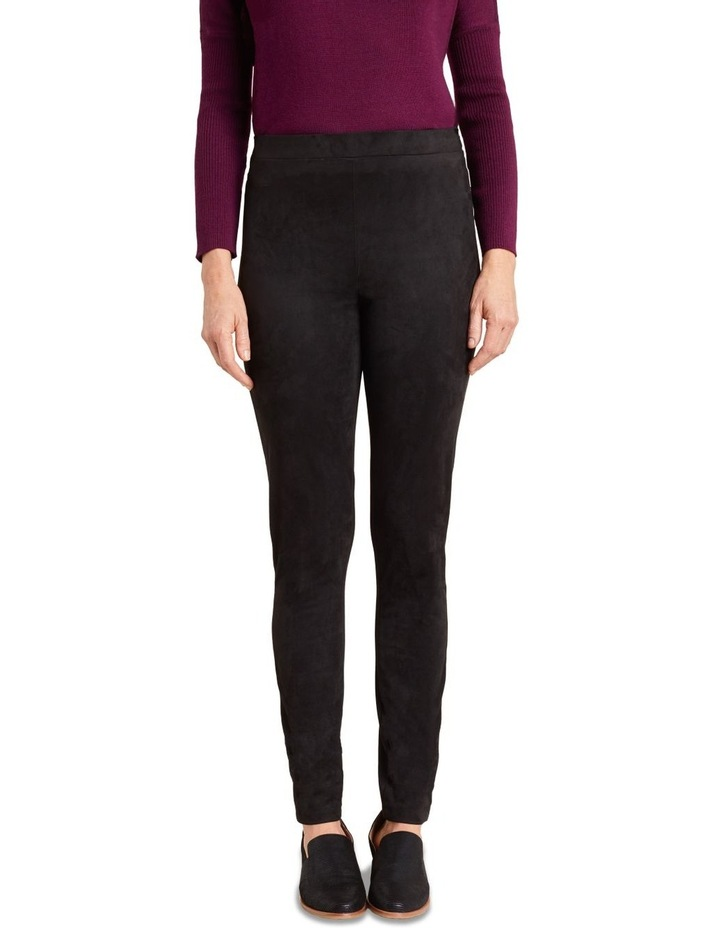 Faux Suede Panelled Legging image 2