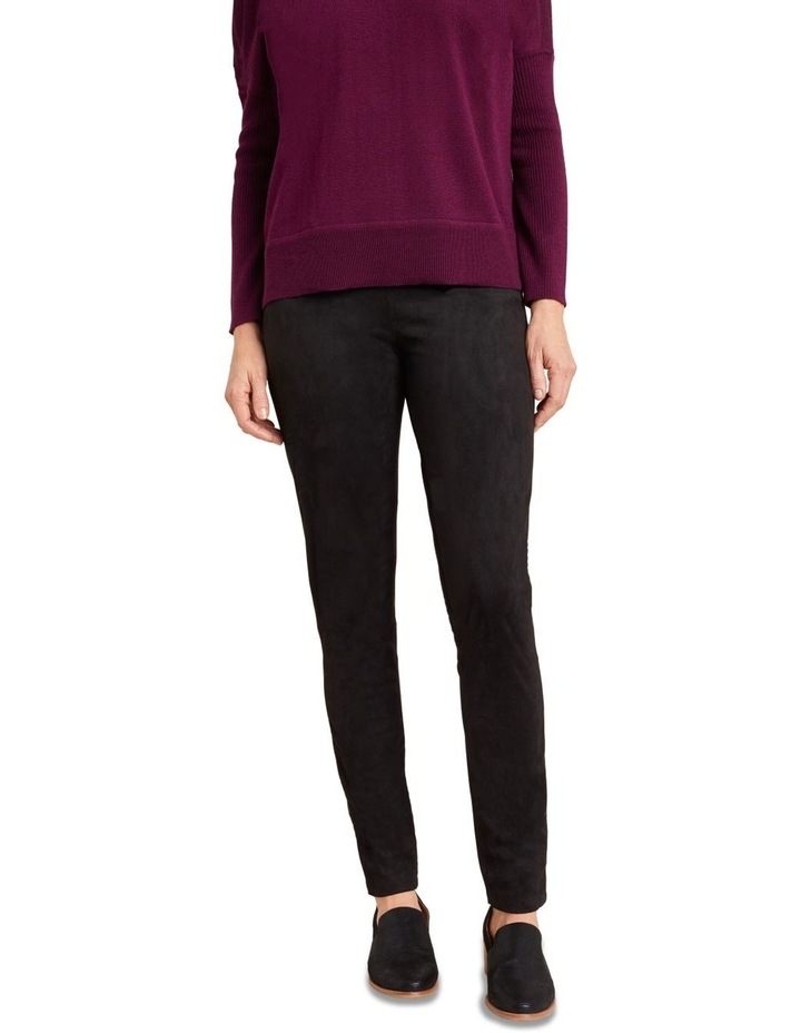 Faux Suede Panelled Legging image 3