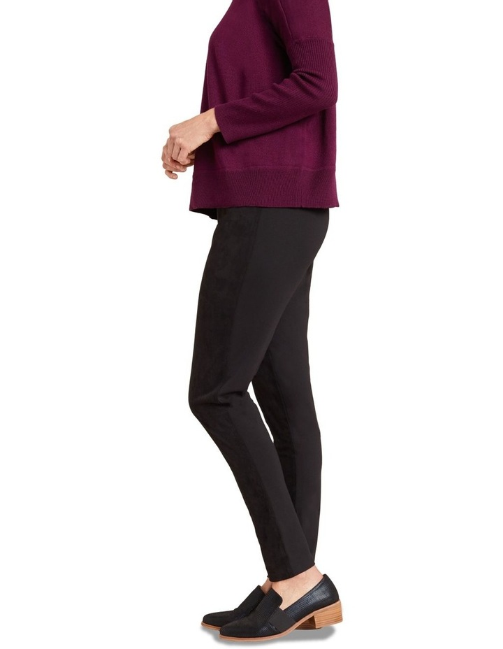 Faux Suede Panelled Legging image 4