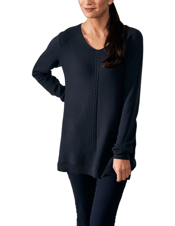 Cable V Neck Knit image 1