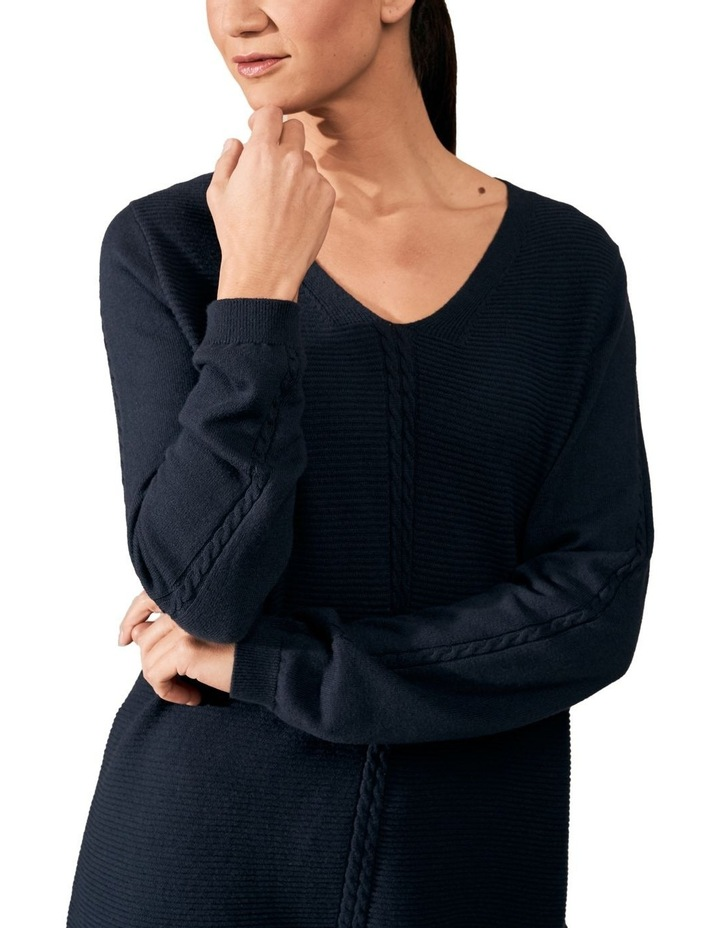 Cable V Neck Knit image 3