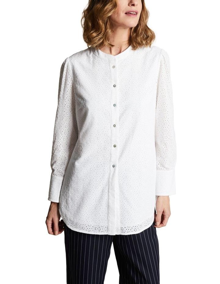 Embroidered Long Line Shirt image 1