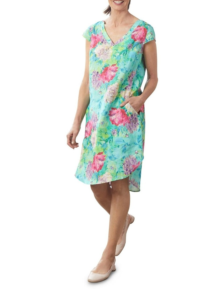 French Linen Printed Dress image 1