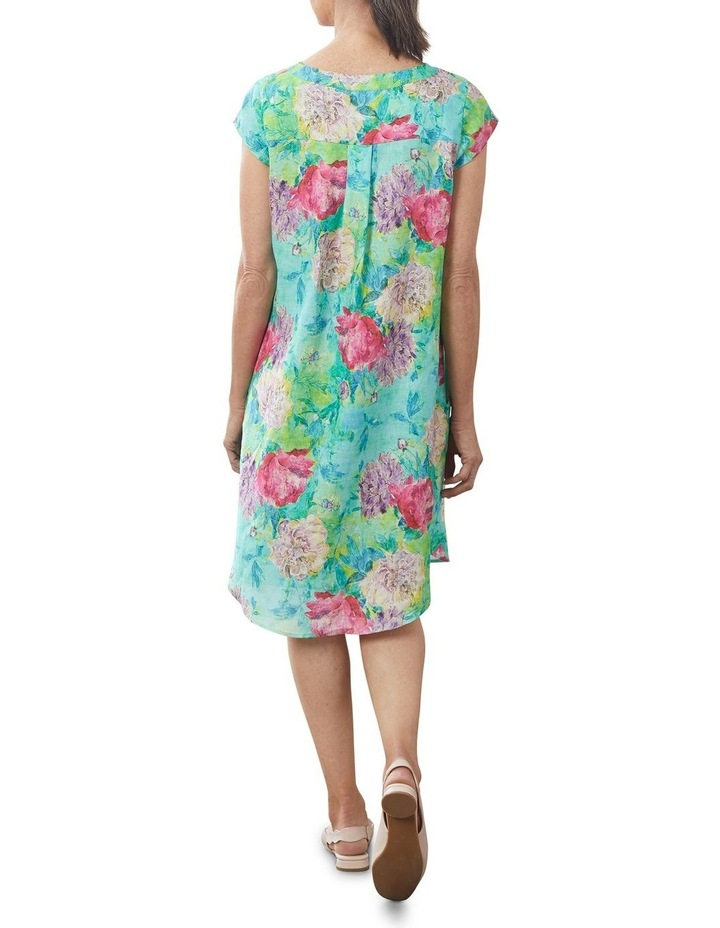 French Linen Printed Dress image 2