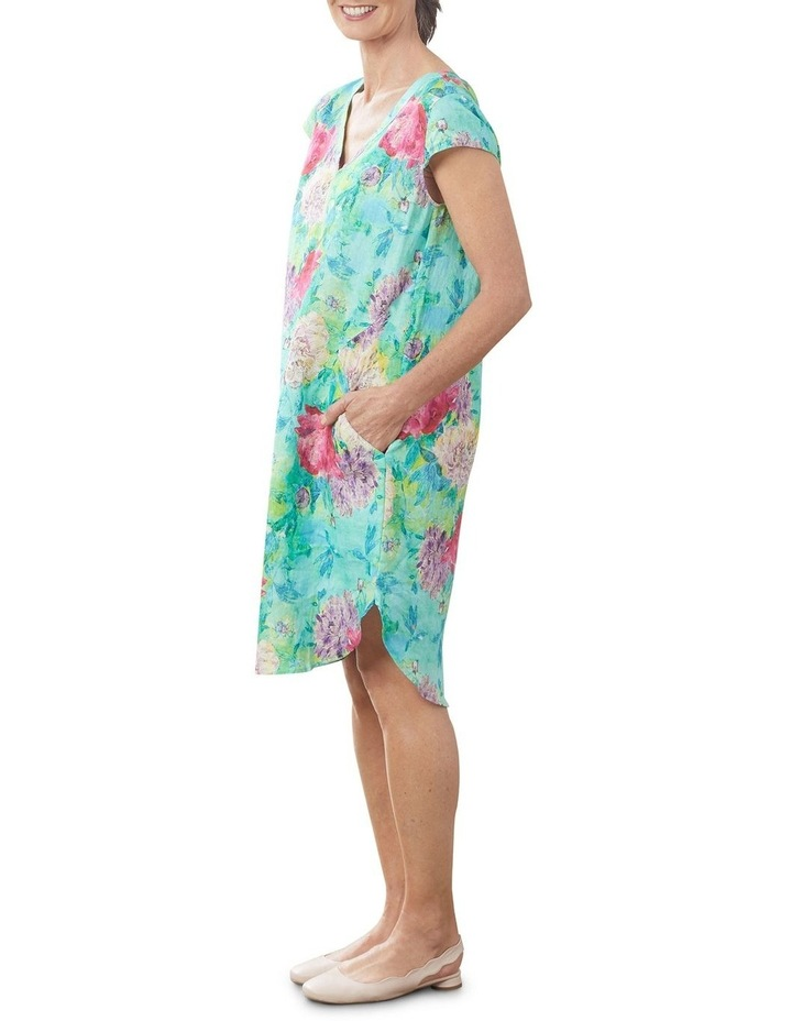 French Linen Printed Dress image 3