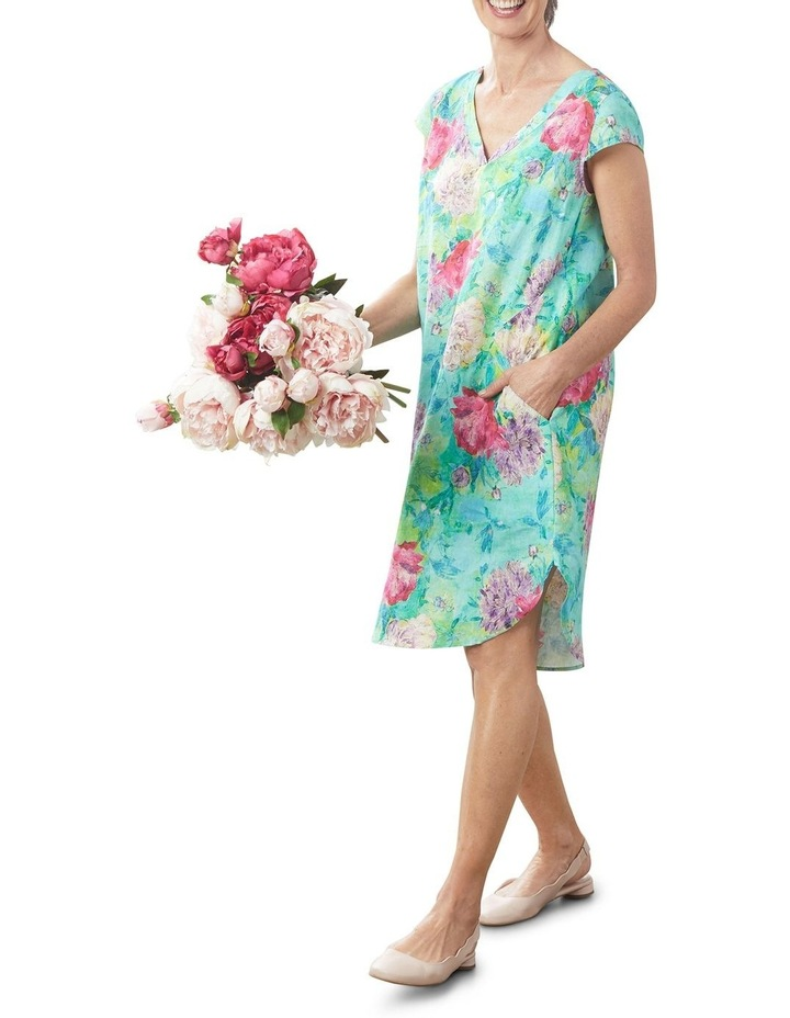 French Linen Printed Dress image 4