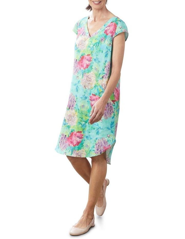 French Linen Printed Dress image 5