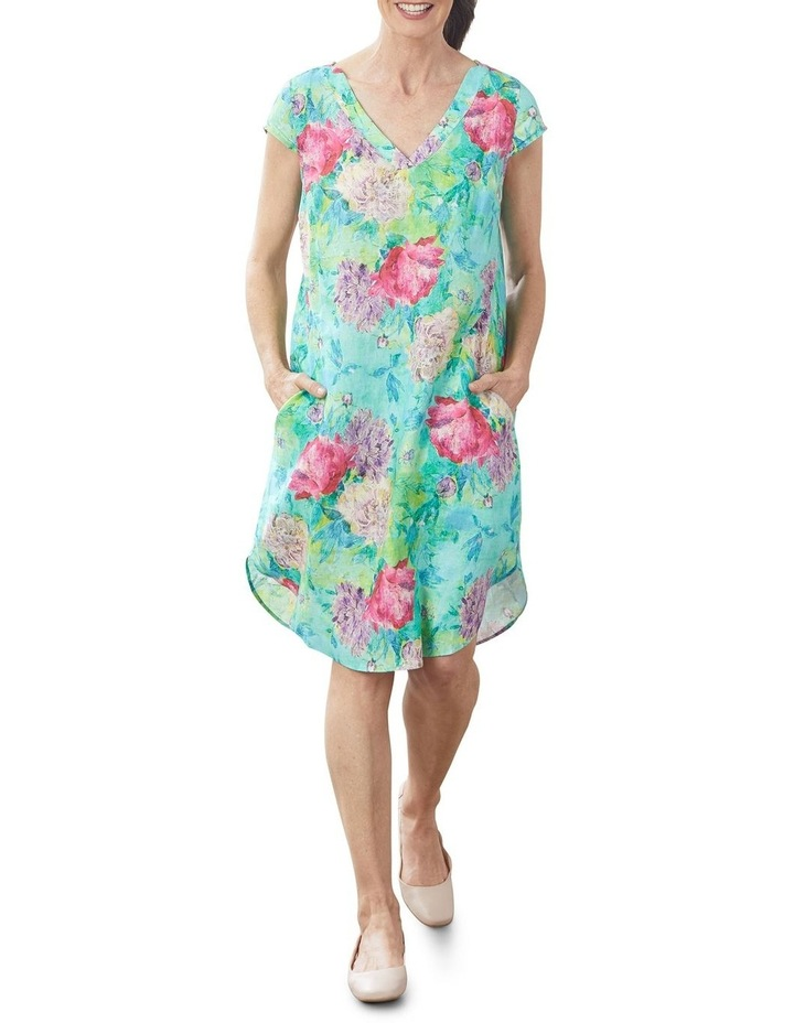 French Linen Printed Dress image 6