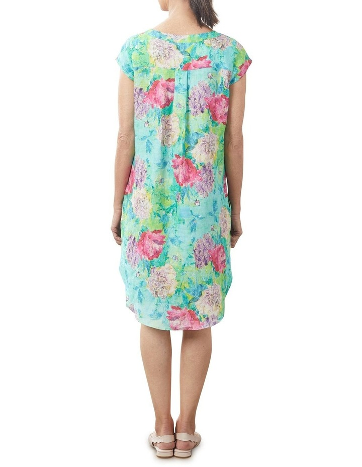 French Linen Printed Dress image 7