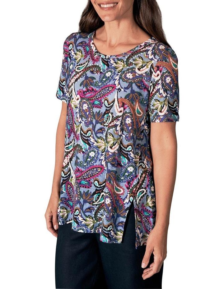 Printed Linen T-Shirt image 1