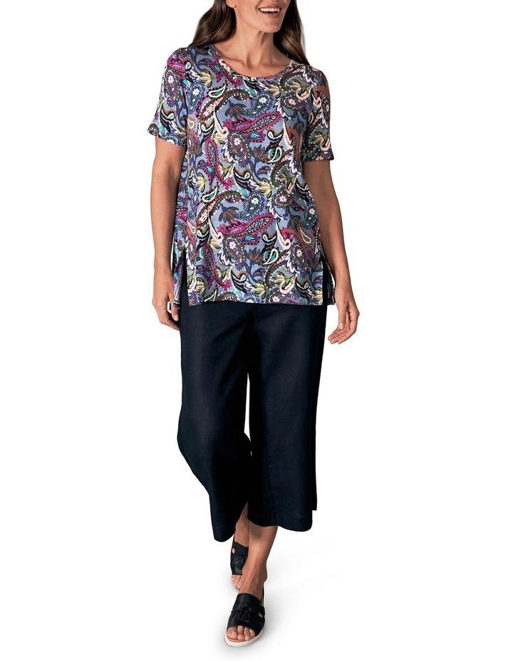 Printed Linen T-Shirt image 2