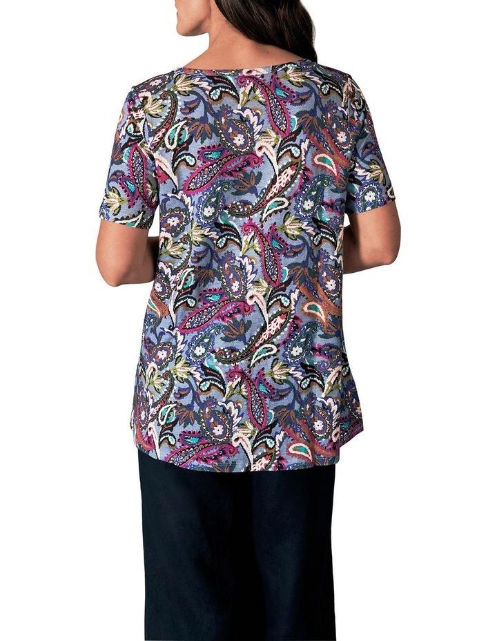 Printed Linen T-Shirt image 3