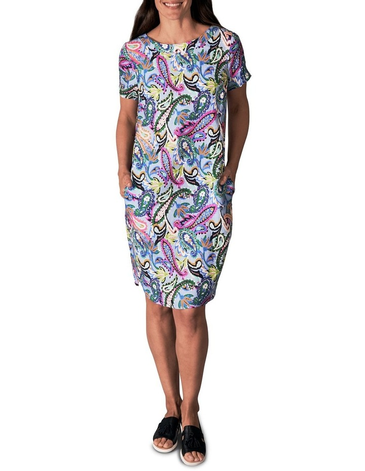 Printed French Linen Dress image 2
