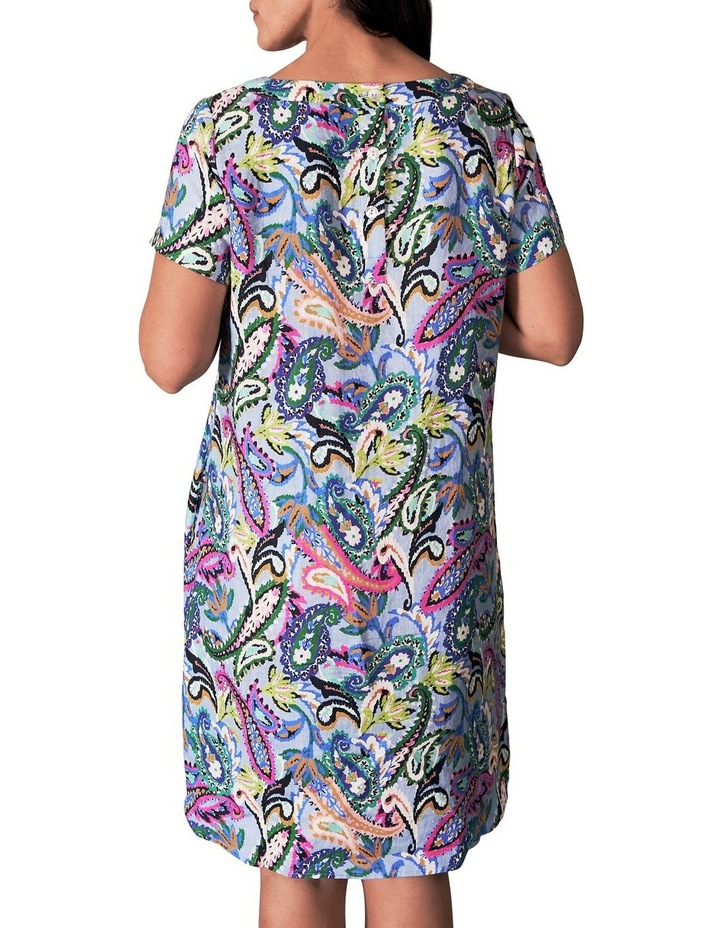 Printed French Linen Dress image 3