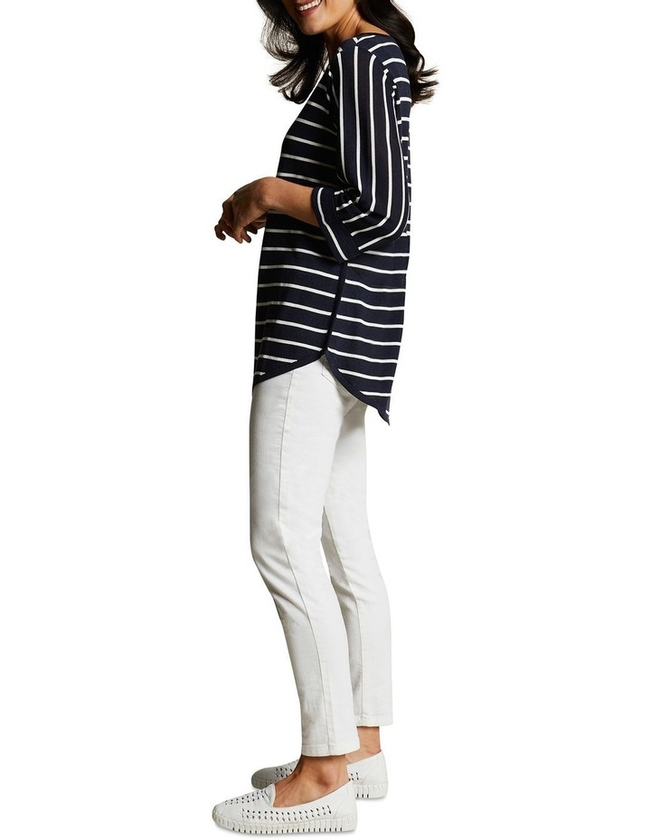 Scoop Hem Stripe Knit image 4