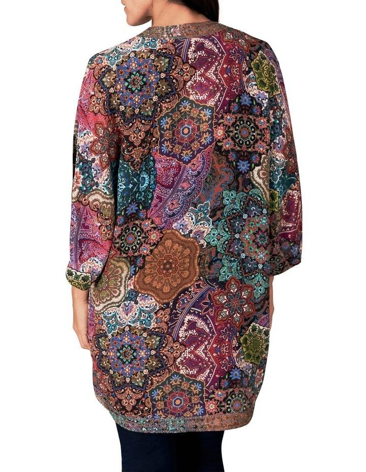Embellished Silk Kaftan image 3