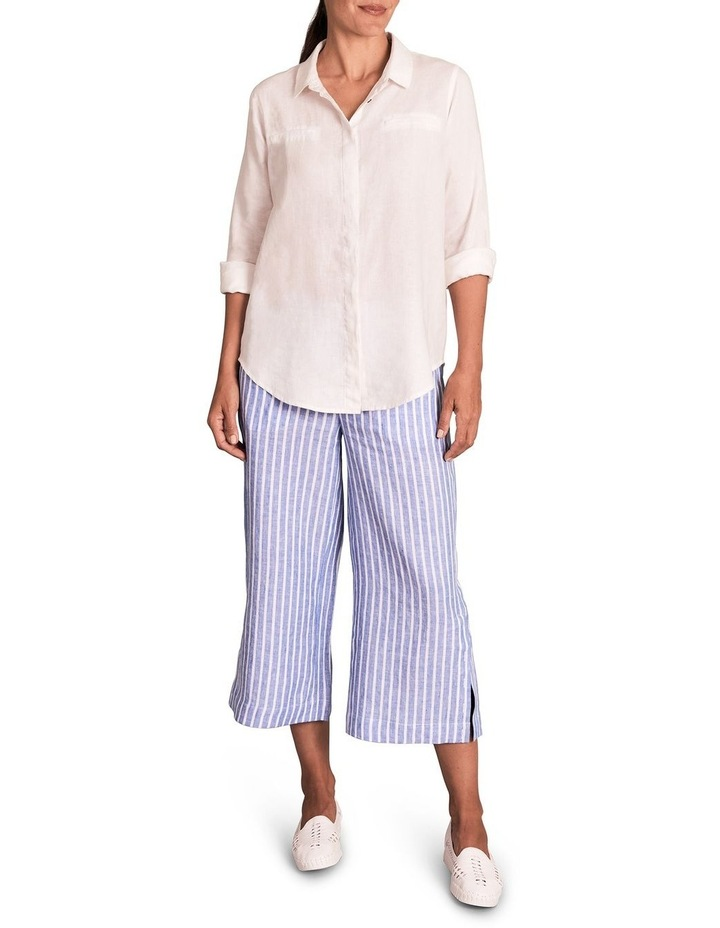 Stripe French Linen Culotte image 1