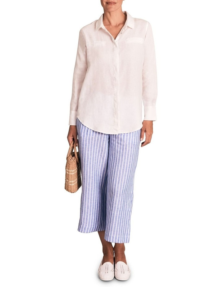 Stripe French Linen Culotte image 3