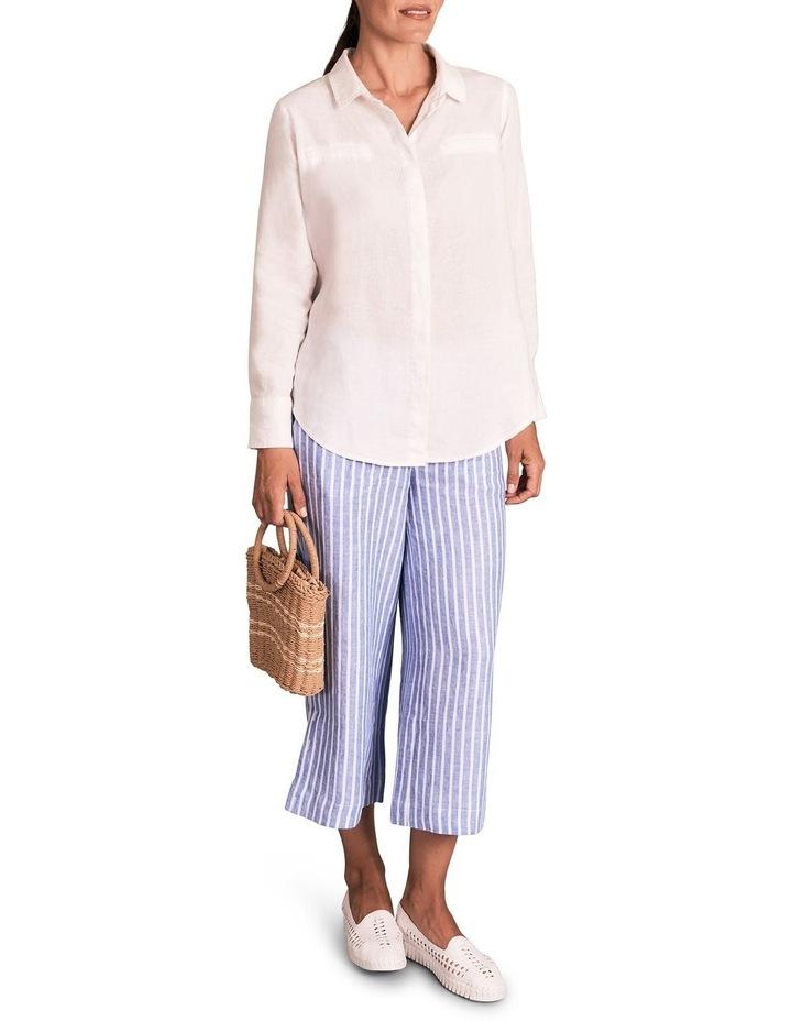 Stripe French Linen Culotte image 4