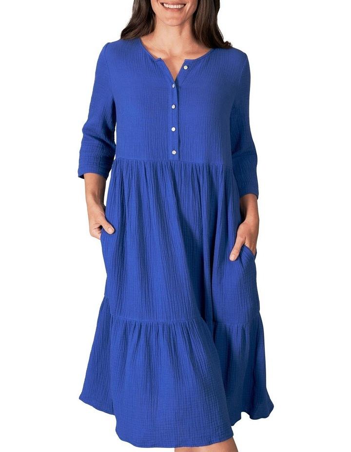 Lightweight Tiered Cotton Dress image 1