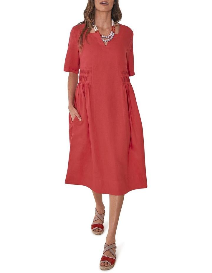 Pleat Detail Midi Dress image 2