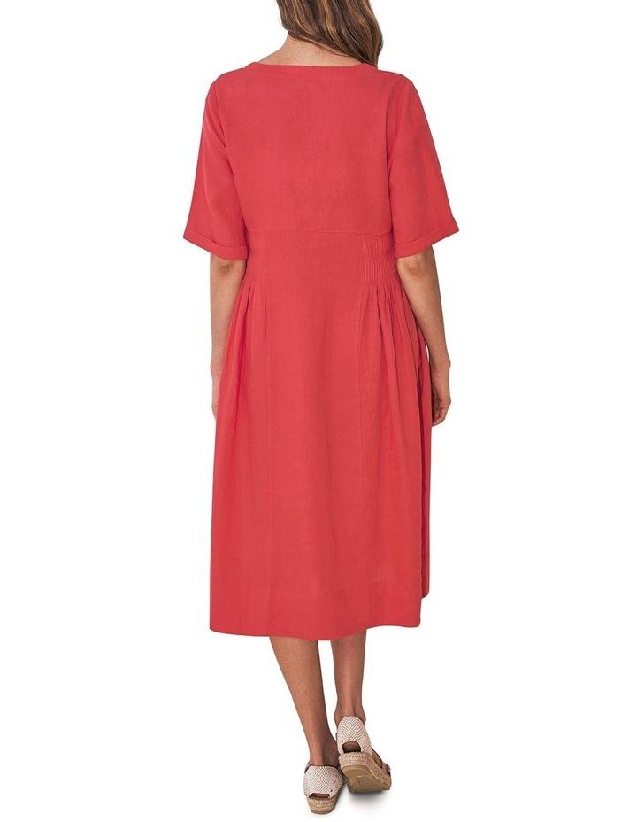 Pleat Detail Midi Dress image 3