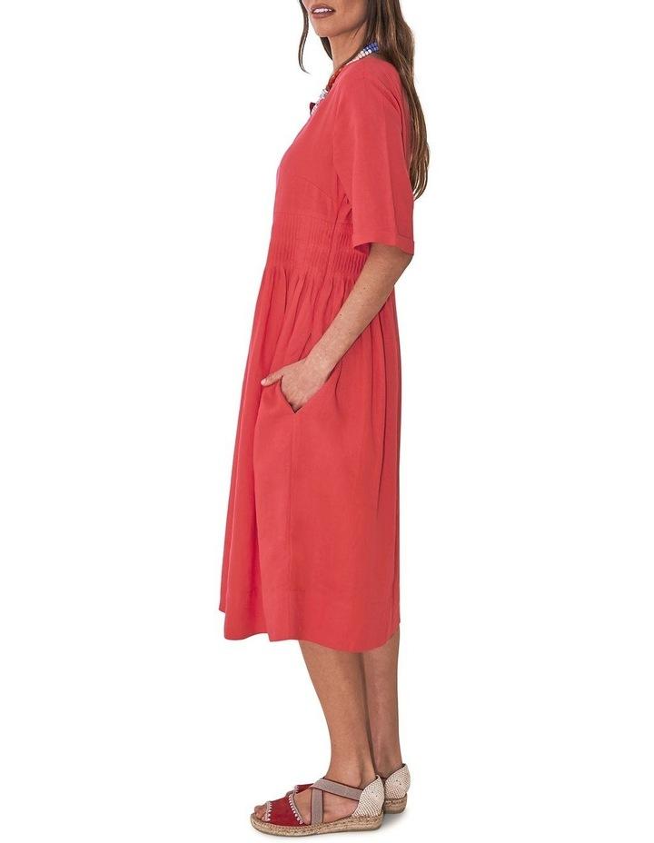 Pleat Detail Midi Dress image 4