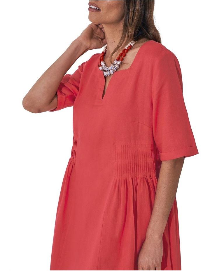 Pleat Detail Midi Dress image 5