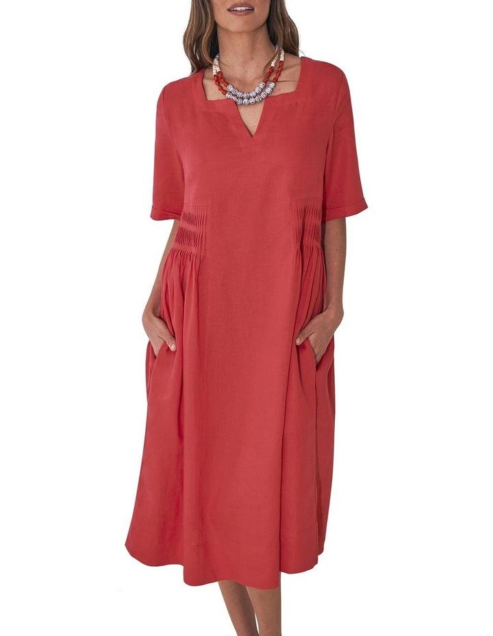Pleat Detail Midi Dress image 6