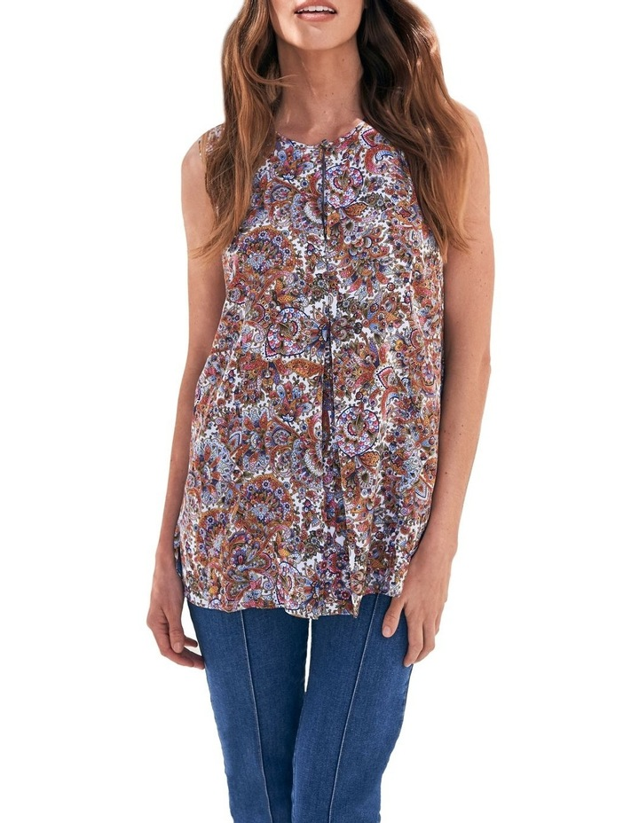 Paisley Pleat Front Top image 1