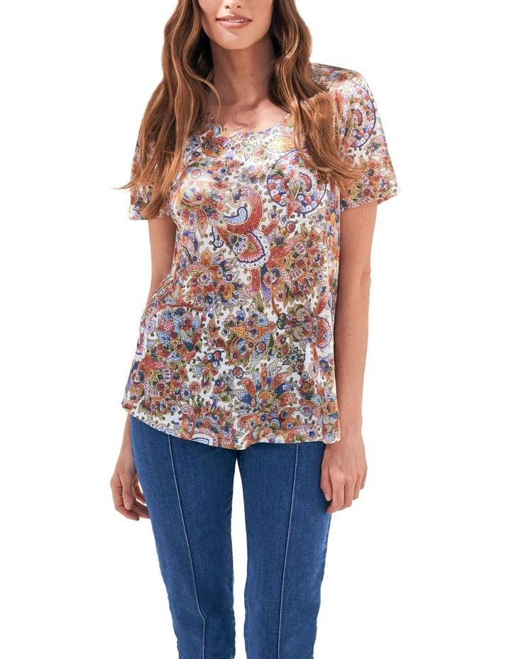 Paisley Linen T-Shirt image 1
