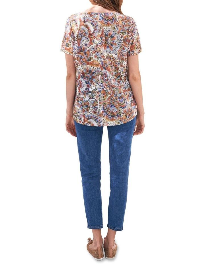 Paisley Linen T-Shirt image 3