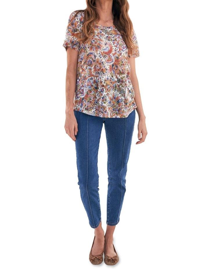 Paisley Linen T-Shirt image 4