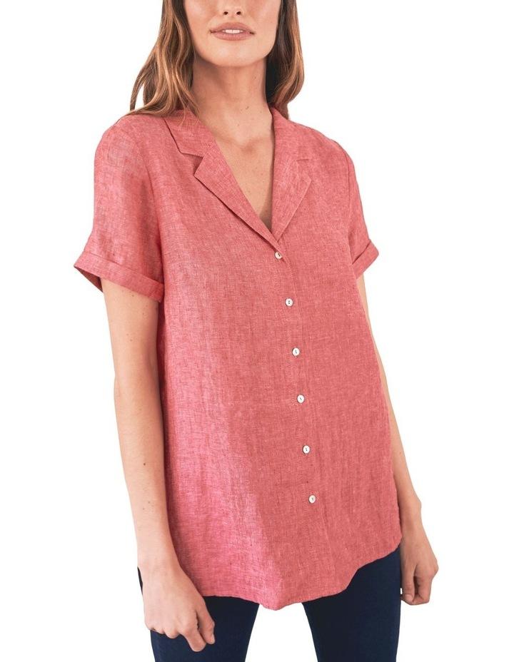 Stepped Hem Linen Shirt image 1