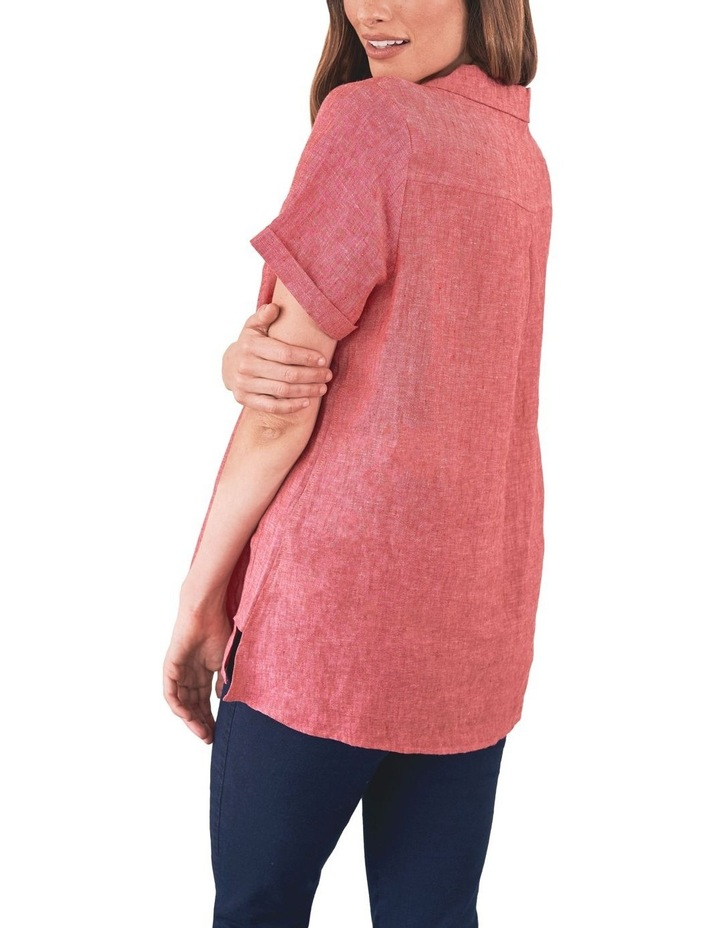 Stepped Hem Linen Shirt image 2