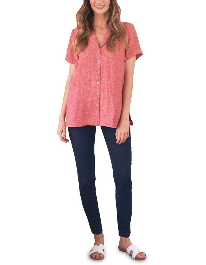 Stepped Hem Linen Shirt image 3
