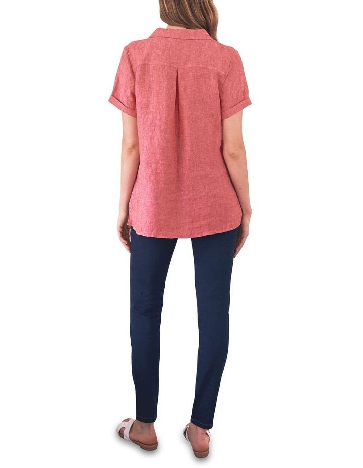 Stepped Hem Linen Shirt image 4