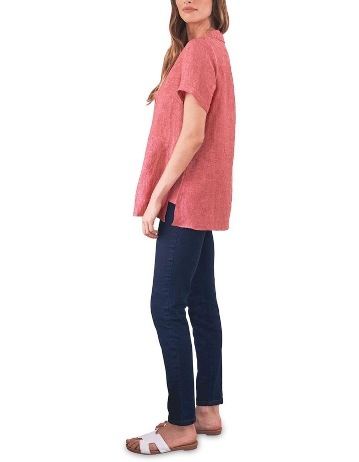 Stepped Hem Linen Shirt image 5