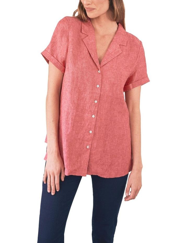 Stepped Hem Linen Shirt image 6