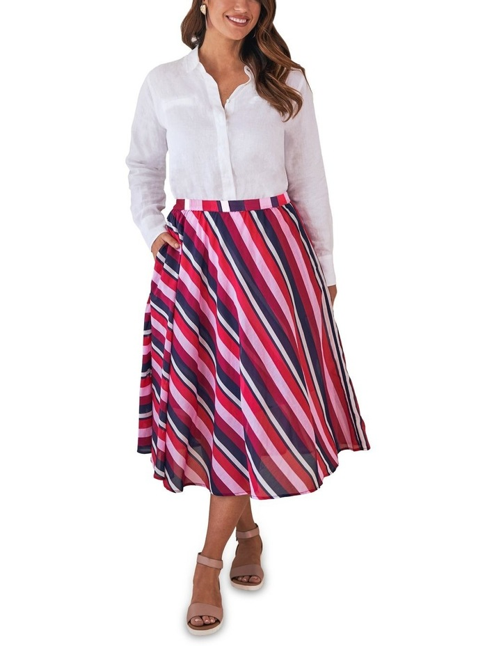 Silk Blend Circular Skirt image 1