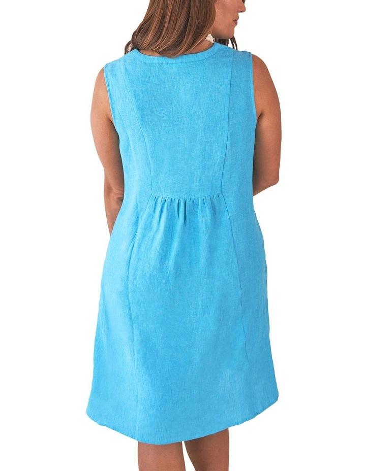 Pleat Detail Linen Dress image 2