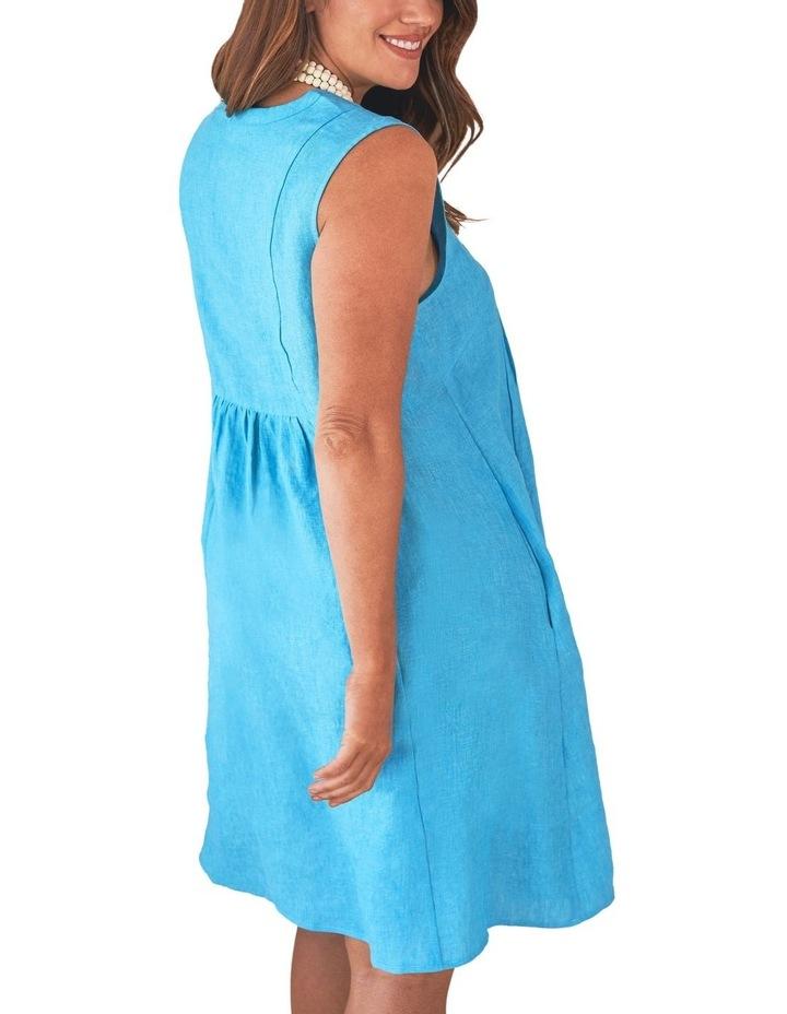 Pleat Detail Linen Dress image 3