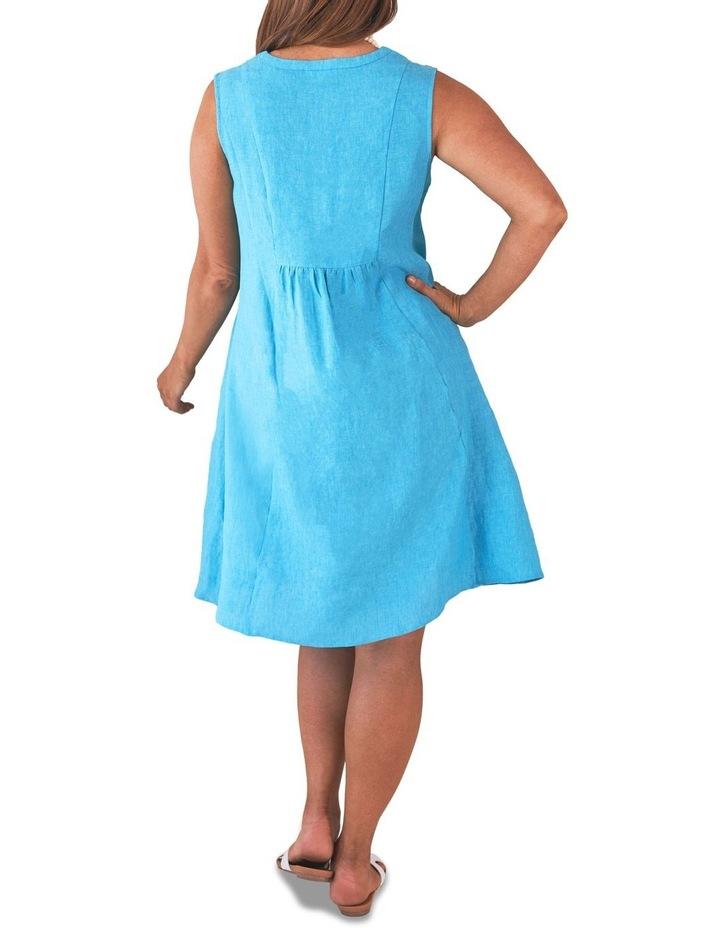 Pleat Detail Linen Dress image 4